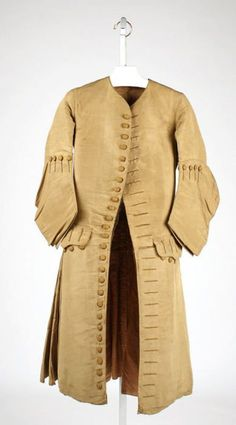 1720s coat via The Costume Institute of The Metropolitan Museum of Art