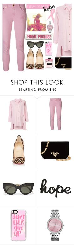 """""""I Wear Pink for.....HOPE"""" by mrsjillc ❤ liked on Polyvore featuring MICHAEL Michael Kors, Christian Louboutin, Prada, Victoria Beckham, Casetify and IWearPinkFor"""
