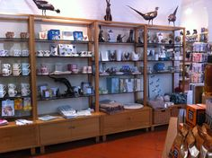 Displays in the shop showing our new items for sale this spring. #nationaltrust #saltram #devon #ntretail