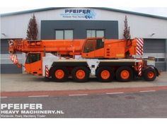 Used telescopic crane available at Pfeifer Heavy Machinery. Item Number PHM-Id 06828, Manufacturer DEMAG, Model AC80/2 Year of construction 2003, Kilometers 88879 Hours 5426, Hours carrier 5426, Hours superstructure 8935, Loading (lifting) capacity (kg) 90000, Boom length maximum (m) 50, Fuel Diesel.