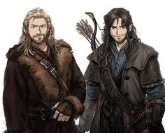 Mischievous looking, aren't they?  ~ Fili & Kili by imam on pixiv.net