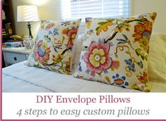 DIY pillow covers give a splash of color