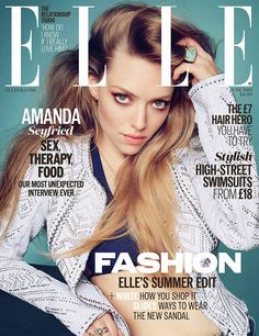 Amanda Seyfried photographed by Kai Z Feng for ELLE UK, June 2014. Hair by Jenny Cho. Makeup by Monika Blunder. Manicure by Ashlie Johnson.
