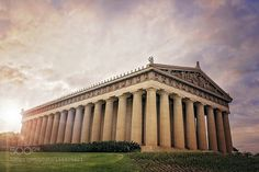 Parthenon Nashville Sunset by leahwoodard76