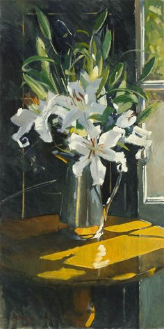 Paul Rafferty | Lilies and Silver #Art #Painting