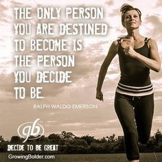 Who are you daily choosing to be? Is it who you want to be? If not, why not change?