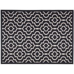 Safavieh Courtyard Clover Canyon Quatrefoil Indoor Outdoor Rug, Black