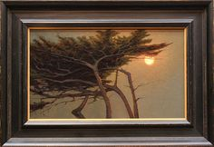Kevin Courter painting, Warm Summer Moon, 10x17