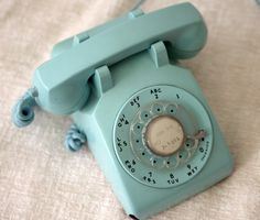 Teal 50s phone, RESERVED for SHANNON. $37.00, via Etsy.
