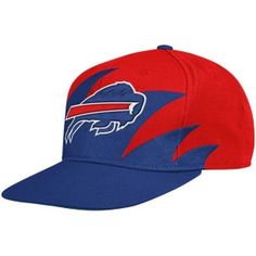 Mitchell   Ness Buffalo Bills Sharktooth Snapback Hat 6ac4fb73c