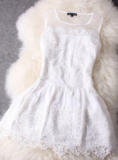 White lace dress~love this