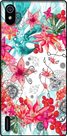 Cover TROPICAL GARDEN per Huawei Ascend P7