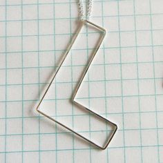 Bubble Letter L Necklace, $36, now featured on Fab.