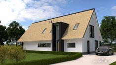 schuurwoning rieten kap risaliet entree Floor Design, House Design, Mansard Roof, Home Goods, Garage Doors, Shed, New Homes, Cottage, Outdoor Structures