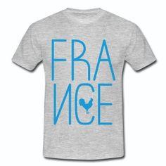 T shirt gris c homme le logo France et coq français - Tee shirt Homme