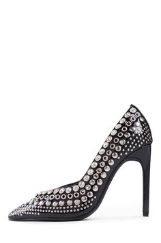 Jeffrey Campbell Shoes LUZ-STUD Shop All in Black Patent Silver
