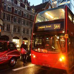 Autobus rouge de Londres, Angleterre