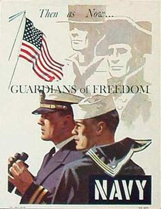 DP Vintage Posters - Guardians of Freedom Original Vintage Vietnam Navy Recruiting Poster