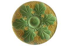 Antique Green Majolica Oyster Plate on OneKingsLane.com