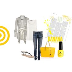 """""""It's very very simple and little yellow :)"""" by madlen-o on Polyvore"""