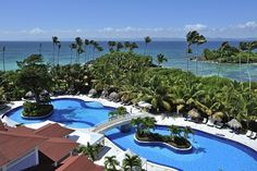 Outdoor Pool of the Luxury Bahia Principe Cayo Levantado (All Inclusive) Samana Province, Dominican Republic Top All Inclusive Resorts, All Inclusive Honeymoon, Honeymoon Vacations, Hotels And Resorts, Vacation Trips, Dream Vacations, Vacation Travel, Honeymoon Ideas, Vacation Ideas
