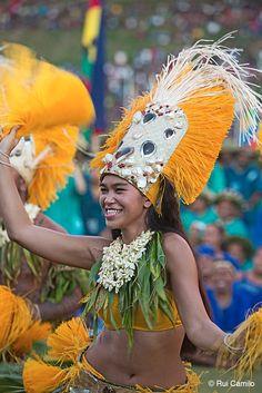 Parada do Festival de Artes do Pacífico, em Honiara, nas Ilhas Salomão.