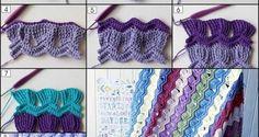 Renkli iplerden örülmüş farklı örgü teknikleri - Derya Baykal - Örgü Dantel Modelleri Örnekleri
