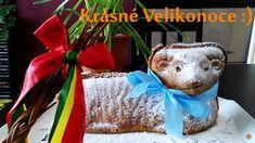 Troubu předehřejte na 180°C.Formu důkladně vymažte sádlem (díky sádlu půjde beránek krásně vyklopit) a vysypte hrubou moukou, strouhankou nebo… Easter Lamb, Cakepops, Christmas Ornaments, Holiday Decor, Desserts, Youtube, Tailgate Desserts, Deserts, Cake Pop