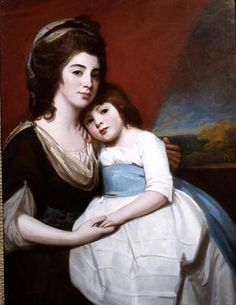 George Romney, Mrs. Georgiana Smyth and her Son, 1780