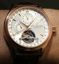 Carl F. Bucherer Manero Tourbillon Watch Hands-on