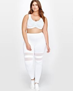 Legging with Double Mesh Inserts