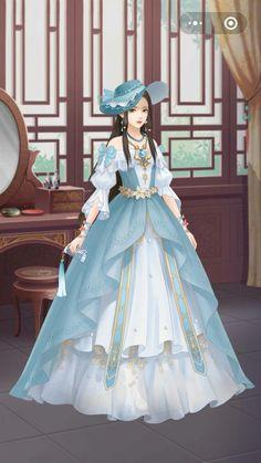 Ball Gown Dresses, Dress Up, Anime Princess, Anime Dress, Cartoon Girls, Pearl Hair, Anime Outfits, Anime Love, Fashion Art