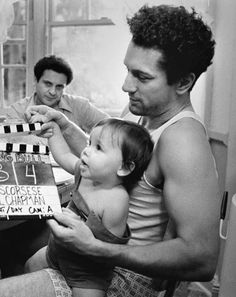 Robert De Niro and Joe Pesci on the set of Raging Bull
