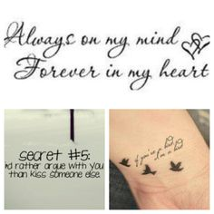 Couple quote tattoos!