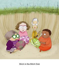 This made me laugh.... Stitching in the Ditch - from 'Mrs. Bobbins'