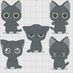 kawaii cat cross stitch