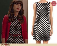 Zooey Deschanel's Apple print dress on New Girl. Outfit Details: http://wwzdw.com/z/4525