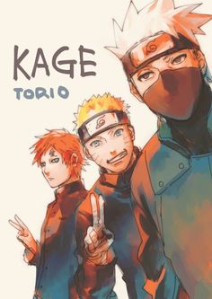 Kakashi, Naruto and Gaara ;3