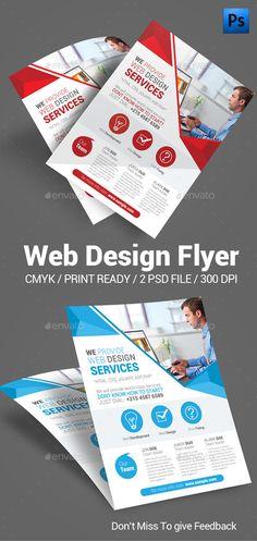 Web Design Flyer Template #design Download: http://graphicriver.net/item/web-design-flyer/12253798?ref=ksioks