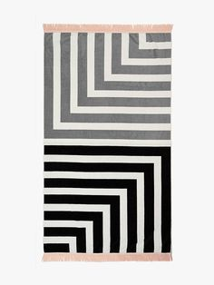 Corner Stripe Beach Towel by Aura.
