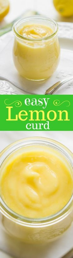 Easy Homemade Lemon Curd - A lemony sauce that tastes just like a crustless lemon pie! Great served with pancakes, waffles, biscuits, scones, pound cake and angel food cake. lemon | dessert | sauce | curd | lemon curd | www.savingdessert.com