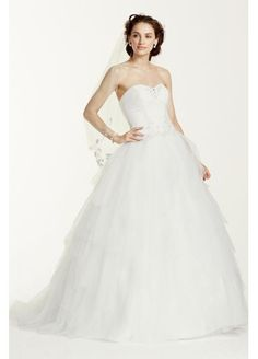 Strapless Tulle Ball Gown with Sweetheart Neckline WG3722