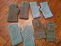 Hobbit fingerless crochet gloves