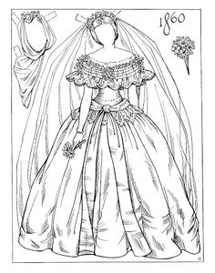 Album Archive - Victorian Brides Paper Dolls by Charles Ventura Missing Missy, Victorian Bride, Paper Dolls Printable, Vintage Paper Dolls, Soft Dolls, Colored Paper, Paper Toys, Doll Face, Doll Patterns