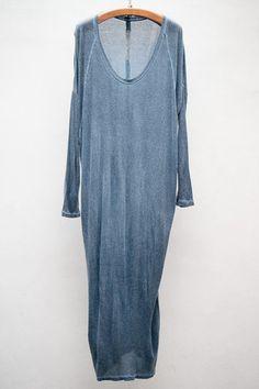 Indigo Wash Raglan Dress