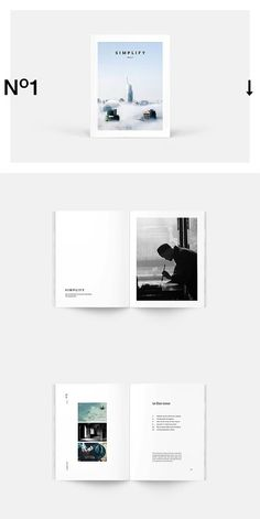 --- Simplify Magazine template is clean, modern and professional with strong typography make your magazine look professional. It's created in Adobe InDesign Design Typo, Graphisches Design, Buch Design, Design Poster, Cover Design, Graphic Design, Design Ideas, Portfolio Design, Mise En Page Portfolio