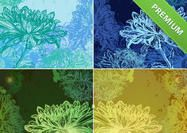 Glowing-floral-backgrounds-pack Floral Backgrounds, Photoshop Brushes, Herbs, Wallpapers, Texture, Orange, Pattern, Surface Finish, Patterns