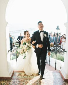 Just Married at Casa Romantica | San Clemente, CA | Southern California Wedding