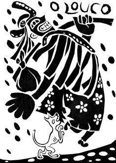 taro_sobreotatame Online Tarot, Tarot Major Arcana, Arte Popular, Outsider Art, Tarot Decks, Archetypes, Tarot Cards, The Fool, Witchcraft