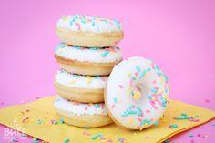 yellow cake donuts